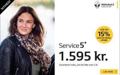 Service 5+ og 15% rabat på tillægsarbejde