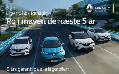 Nytårskur hos Renault – 5 års garanti