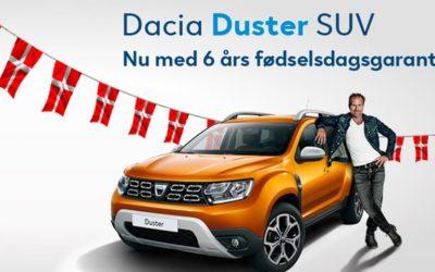 Dacia Duster – 6 års fødselsdagsgaranti